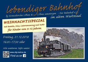 2018 Lebendiger bahnhof FlyerPlakat