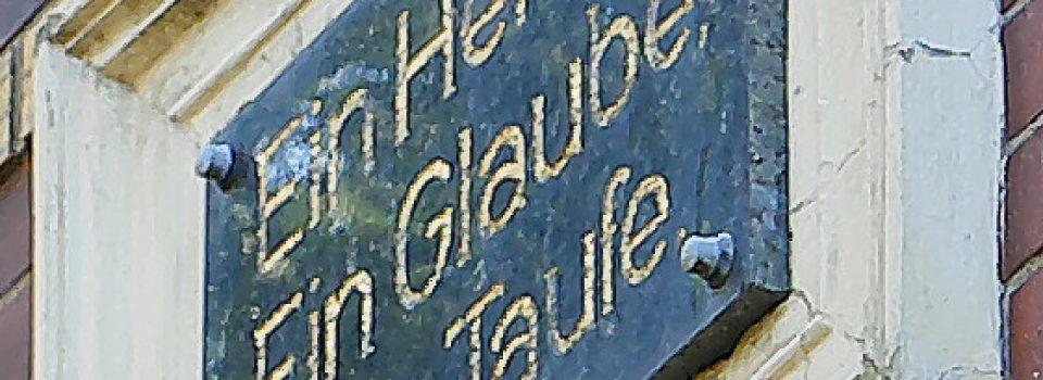 Spruch an Ehemaligen EFG Gemeindehaus Ausschnitt 2a